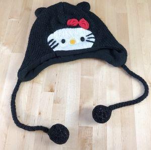 Hello Kitty wool blend cat winter hat one size